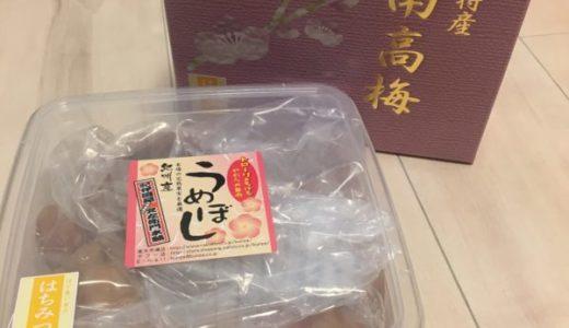 和歌山県湯浅町 はちみつ梅干し【大玉】1kg化粧箱